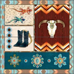 Southwest Junction 1 by Aurelia Manouvrier Ceramic Tile Mural - CCI-AM-SJ01