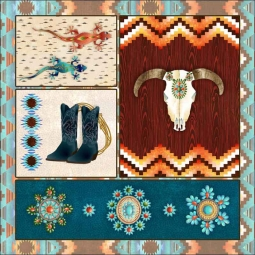 Southwest Junction 1 by Aurelia Manouvrier Ceramic Accent & Decor Tile - CCI-AM-SJ01AT