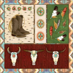 Southwest Junction 2 by Aurelia Manouvrier Ceramic Accent & Decor Tile - CCI-AM-SJ02AT