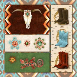 Southwest Junction 4 by Aurelia Manouvrier Ceramic Accent & Decor Tile - CCI-AM-SJ04AT
