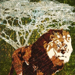 Wild Savannah - Lion by Aurelia Manouvrier Ceramic Accent & Decor Tile - CCI-AM-WS02AT