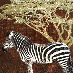 Wild Savannah - Zebra by Aurelia Manouvrier Ceramic Accent & Decor Tile - CCI-AM-WS09AT