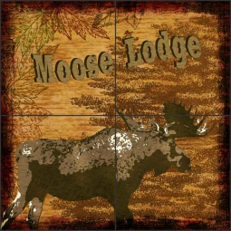 Woodland Trails - Moose by Aurelia Manouvrier Ceramic Tile Mural - CCI-AM-WT03