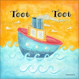Tugboat by Bridget McKenna Ceramic Accent & Decor Tile - CCI-BRI072AT