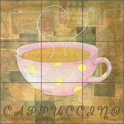 Hot Drinks: Cappuccino by Bridget McKenna Ceramic Tile Mural - CCI-BRI078