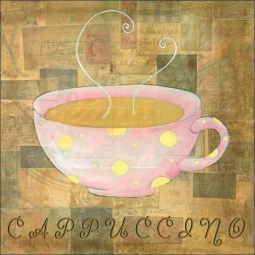 Hot Drinks: Cappuccino by Bridget McKenna Ceramic Accent & Decor Tile - CCI-BRI078AT