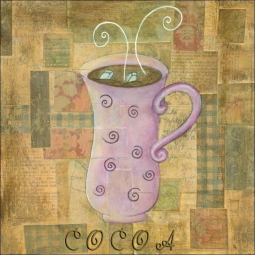 Hot Drinks: Cocoa by Bridget McKenna Ceramic Accent & Decor Tile - CCI-BRI079AT