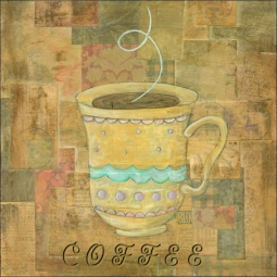 Hot Drinks: Coffee by Bridget McKenna Ceramic Accent & Decor Tile - CCI-BRI080AT