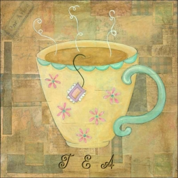 Hot Drinks: Tea by Bridget McKenna Ceramic Accent & Decor Tile - CCI-BRI081AT