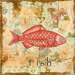Sea Life: Fish by Bridget McKenna Ceramic Accent & Decor Tile - CCI-BRI255AT