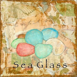 Sea Life: Sea Glass by Bridget McKenna Ceramic Accent & Decor Tile - CCI-BRI259AT