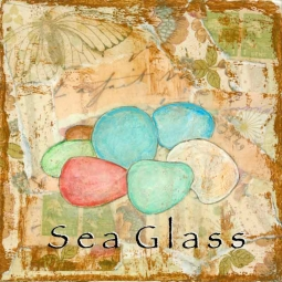 Sea Life - Sea Glass by Bridget McKenna Floor Tile Art CCI-BRI259AT