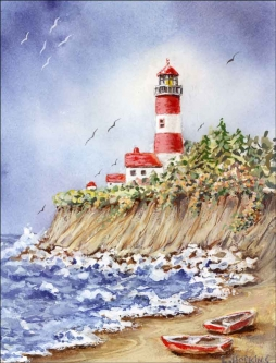 Jackson Point Light by Edie Hopkins Ceramic Accent & Decor Tile - CCI-EH220AT