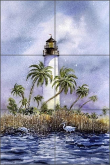 Light at Key West by Edie Hopkins Ceramic Tile Mural - CCI-EH75