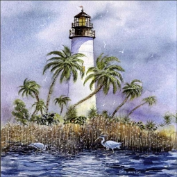 Light at Key West by Edie Hopkins Ceramic Accent & Decor Tile - CCI-EH75AT