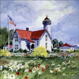 Martha's Vineyard by Edie Hopkins Ceramic Accent & Decor Tile - CCI-EH7AT
