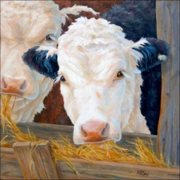 Feeding Time by Linda Elliott Ceramic Accent & Decor Tile - CCI-LE241AT