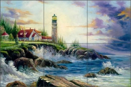 Coastal Light by C. H. Ching Ceramic Tile Mural CHC066