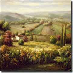 "Ching Tuscan Vineyard Ceramic Accent Tile 4.25"" x 4.25"" - CHC068AT2"