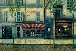 Cafe de Paris by C. H. Ching Ceramic Tile Mural CHC072