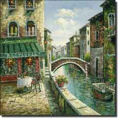 "Ching Cafe Canal Ceramic Accent Tile 4.25"" x 4.25"" - CHC080AT"