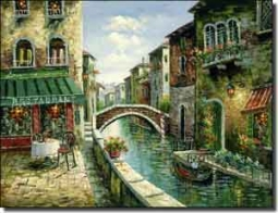 "Ching Cafe Canal Ceramic Accent Tile 8"" x 6"" - CHC080AT"