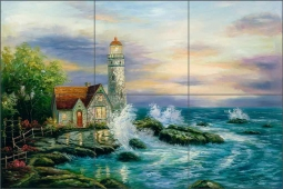 Guardian Light by C. H. Ching Ceramic Tile Mural - CHC085