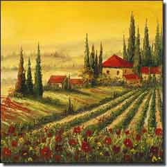 Ching Tuscan Vineyard Ceramic Accent Tile - CHC088AT