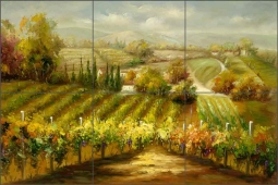 Vineyard Lookout by C. H. Ching Ceramic Tile Mural CHC089