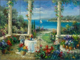Seascape Courtyard by C. H. Ching Ceramic Tile Mural CHC094