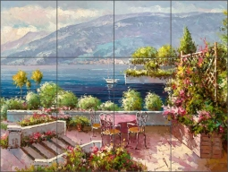 Lakeside Terrace by C. H. Ching Ceramic Tile Mural - CHC095