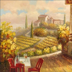 Vineyard Cafe by C. H. Ching Ceramic Accent & Decor Tile CHC099AT