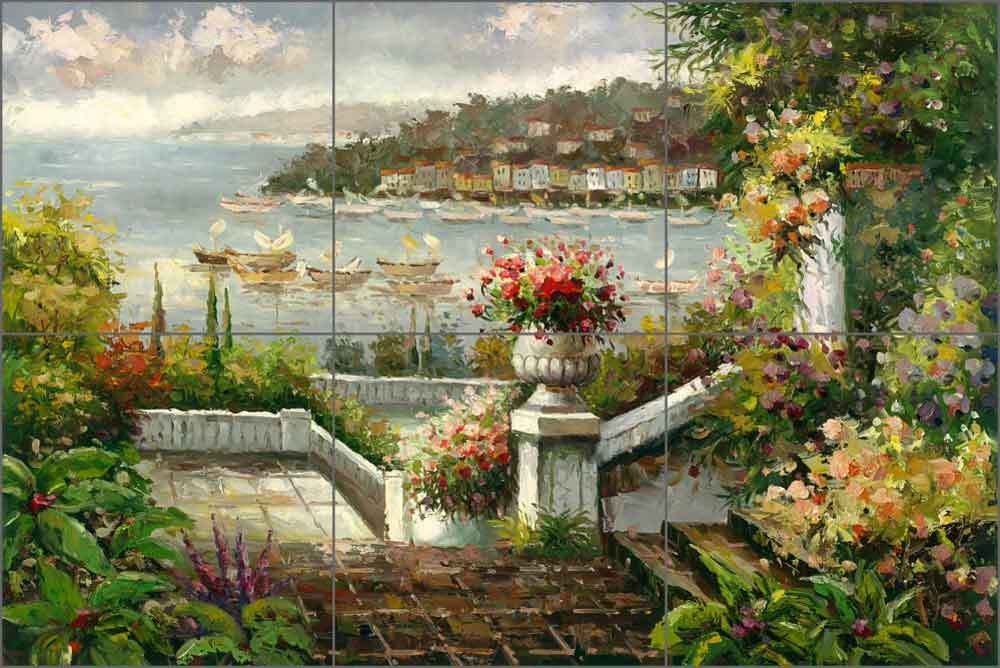 Anchorage Overlook by C. H. Ching Ceramic Tile Mural - CHC103