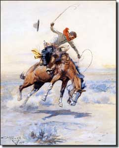 "Russell Western Cowboy Ceramic Accent Tile 8"" x 10"" - CMR001AT"