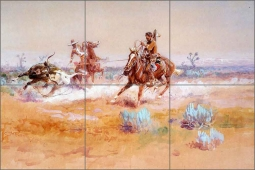 Mexico by Charles M. Russell Ceramic Tile Mural - CMR018