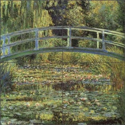 The Waterlily Pond by Claude Oscar Monet Ceramic Tile Mural