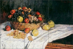 Fruit Basket with Apples and Grapes by Claude Oscar Monet COM008