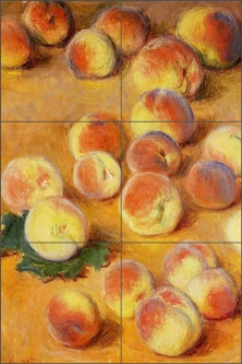 Peaches by Claude Oscar Monet Ceramic Tile Mural COM010