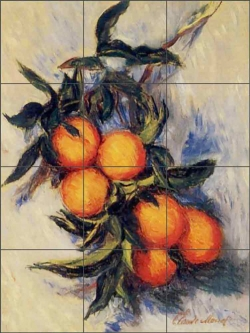 Orange Branch Bearing Fruit by Claude Oscar Monet COM011