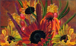 Fall Bouquet by Nancy Jacey Ceramic Tile Mural - CPA-NJ13003