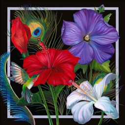 Sweet Nectar - Square by Nancy Jacey Ceramic Accent & Decor Tile - CPA-NJ14055AT