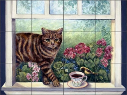 Moka Java by Carolyn Paterson Ceramic Tile Mural - CPA006