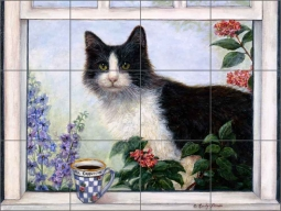 Ms Cappuccino by Carolyn Paterson Ceramic Tile Mural - CPA007