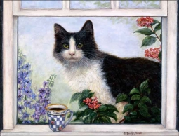 Ms. Cappuccino by Carolyn Paterson Ceramic Accent & Decor Tile - CPA007AT