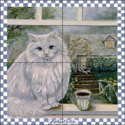 Lady Latte by Carolyn Paterson Ceramic Tile Mural CPA008
