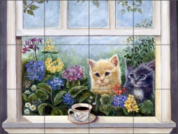 Double Espresso by Carolyn Paterson Ceramic Tile Mural - CPA010