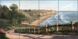 View from Bacara by Carolyn Paterson Ceramic Tile Mural - CPA015