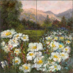 Meadow in Spring by Carolyn Paterson Ceramic Tile Mural CPA019