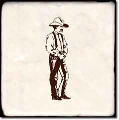 "Western Cowboy Tumbled Marble Accent Tile 4"" x 4"" - CWC001AT"