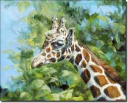 "Hughbanks Animal Giraffe Ceramic Accent Tile 10"" x 8"" - DHA005AT"